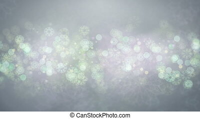 Gray Snowflakes Background