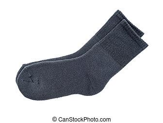 gray socks on a white background