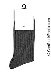 gray socks on a white background
