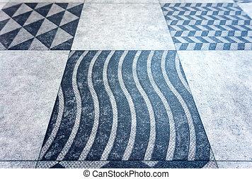 gray square background, cage, black grey, geometric pattern
