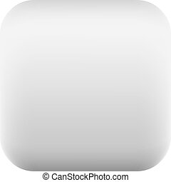 Gray square button blank web internet icon
