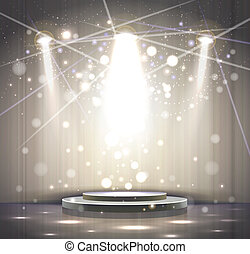 gray stage - spotlight effect gray scene background