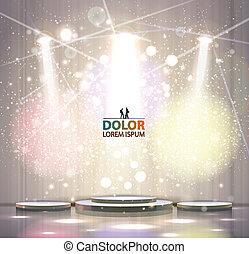 gray stage - spotlight effect gray scene background