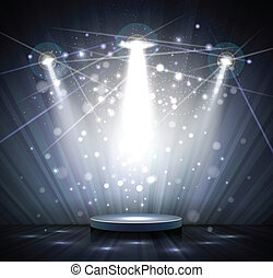 gray stage - spotlight effect scene background