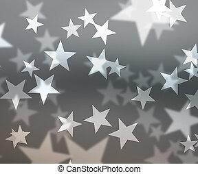 Gray Stars Bokeh Background