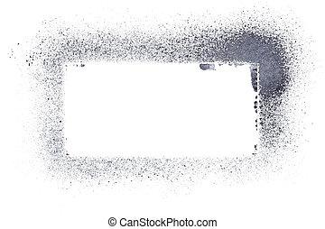 Gray stencil frame - raster illustration
