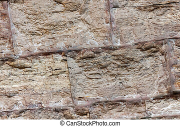 gray stone background foundation rigid wall block cement strips basis