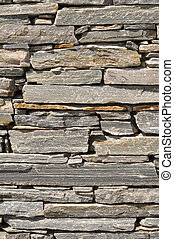 Gray Stone Brick Wall