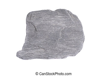 Gray stone isolated on the white background