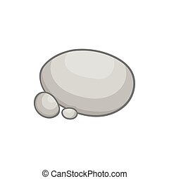 Gray stones icon in cartoon style