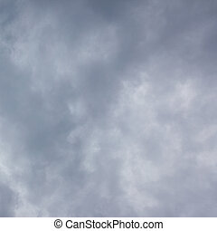 Gray storm sky