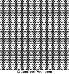 Gray striped knitted background, vector illustration for...