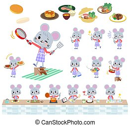 ??Gray suit business women0525 - A set of mouse girl about...
