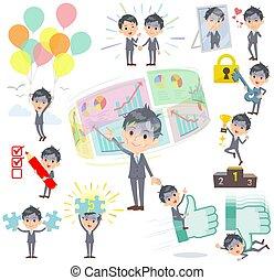 Gray Suit Businessman Bad condition_success & positive
