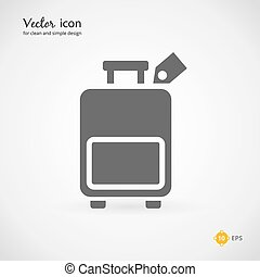 Gray Suitcase or Luggage Graphic Design