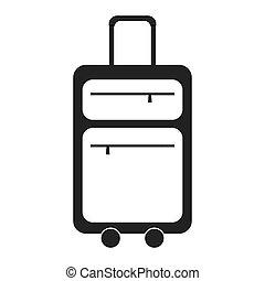 gray suitcase travel equipment