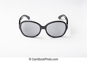 gray sunglasses isolated on a white background