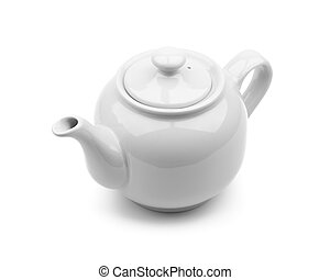 Gray Teapot - Light gray teapot isolated on white background