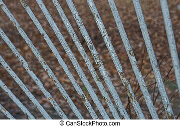 texture of old iron rods on the fence