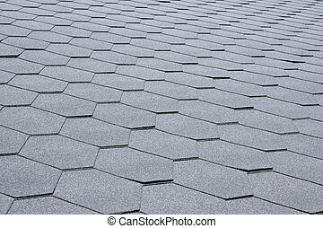 Gray tile roof