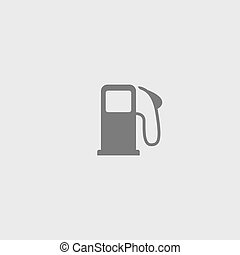 Gray vector gas station icon on a white background.