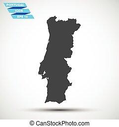 gray vector portugal icon