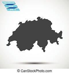 gray vector switzerland icon