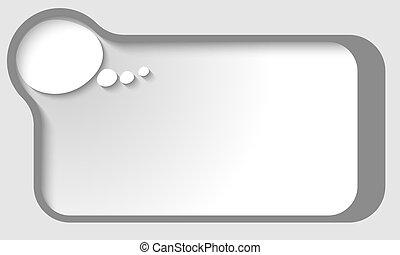 gray vector text frame with speech bubble