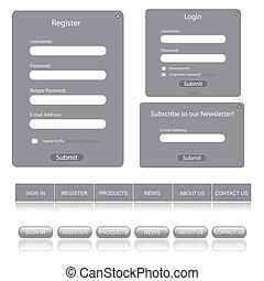 Gray Web Template