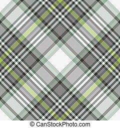 gray-white-green, checkered, pattern., diagonale, seamless