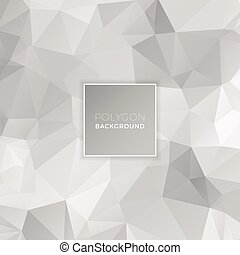 Gray White Polygon Background
