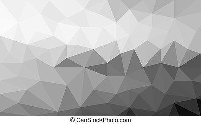 gray white polygonal background