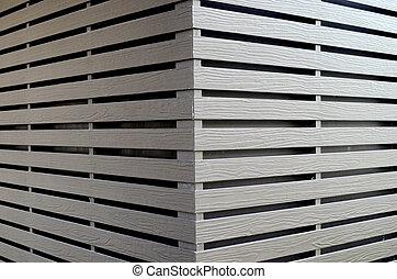 Gray wood plank wall