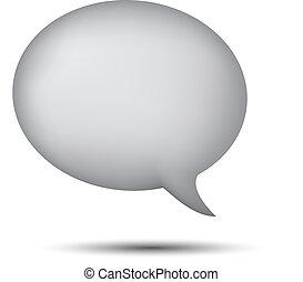 Gray word bubble on white