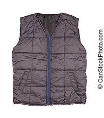 Gray working winter vest
