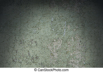 Grayish Green Weathered and Distressed Texture Lit Dramatically