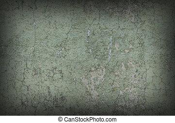 grayish, resistido, plano de fondo, pared, textured, afligido, verde