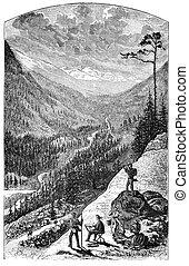 Gray's peak in the Colorado Rockies. Illustration originally...