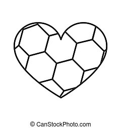 grayscale background of heart with texture of soccer ball
