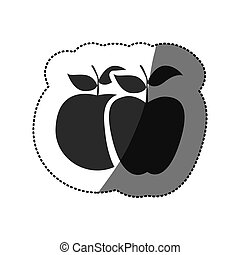 grayscale differents apples icon