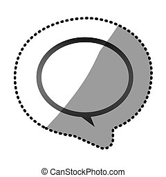 grayscale round chat bubble icon