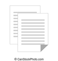 grayscale silhouette with document file