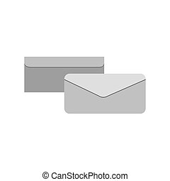 grayscale silhouette with envelope in view two sides