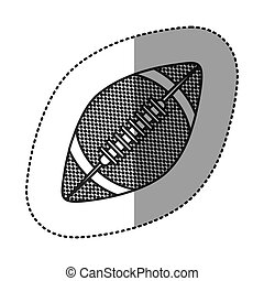 grayscale sticker with football ball