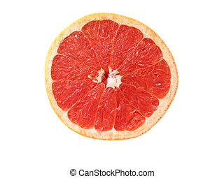 Greapefruit half - Half of rubi red grapefruit, isolated on ...