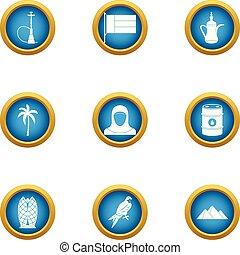 Grease icons set, flat style - Grease icons set. Flat set of...