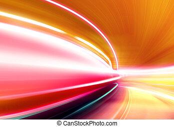 highway of night city - Greased light on high-speed highway ...
