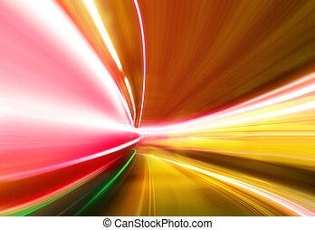 greased, luce, su, autostrada