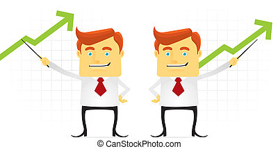 Businessman presenting great achievement. Fully editable eps file format.