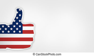 great american style big thumbs up like icon button